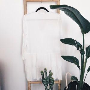 Zara Tops - ZARA Pleated Ruffle Tunic/Dress